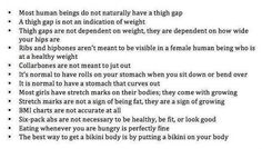 Now if only those women's mags would publish lists like these instead of those stupid 7 Ways to Get a Thigh Gap articles that play off women's insecurities and misunderstandings about how the body, exercise and diet work.