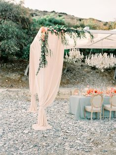Pebbled Coast Wedding Inspiration with Bright Pops of Citrus ⋆ Ruffled Wedding Blog, Dream Wedding, Wedding Day, Wedding Peach, Wedding Aisles, Wedding Reception, Cabana, Coastal Wedding Inspiration, Coral Charm Peony