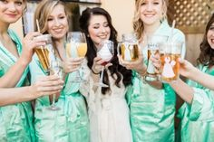 The bridal party wit