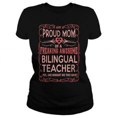 BILINGUAL TEACHER T Shirts, Hoodies. Get it here ==► https://www.sunfrog.com/LifeStyle/BILINGUAL-TEACHER-117260454-Black-Ladies.html?57074 $23