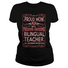 BILINGUAL TEACHER T Shirts, Hoodies. Get it here ==► https://www.sunfrog.com/LifeStyle/BILINGUAL-TEACHER-117260454-Black-Ladies.html?57074 $23