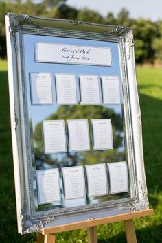 photo: Anneli Marinovich Photography; wedding escort card display idea