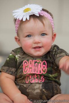 Items similar to Camo Cutie Realtree Baby Bodysuit Reduced Size 12 Month Only on Etsy Baby On The Way, Our Baby, My Little Girl, My Baby Girl, Cute Kids, Cute Babies, Camo Baby Stuff, Baby Kids Clothes, Baby Bodysuit