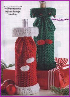Holiday wine sacks...Sacos para botellas de vino para estas navidades!