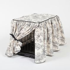 Gathered Crate Cover - Central Park Toile