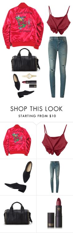 """Unbenannt #1300"" by amyjswardrobe ❤ liked on Polyvore featuring Valfré, Monki, Yves Saint Laurent, Forever 21, Lipstick Queen and Topshop"