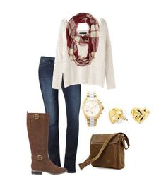 Fall Outfit Ideas - Pair a puffer vest with flannel, a scarf, your favorite jeans and boots for a warm, stylish and comfy outfit.