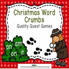 These holiday task cards by SOL Train Learning have words from our December calendar. Students are asked to find word chunks in these words. It would be fun to give them little magnifying glasses.$ #SOL Train Learning#Christmas#TPT