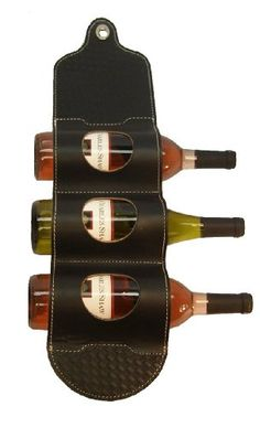 Best Wine Rack | Wine Rack Bandolier Leather Wine Wall Rack  WBWRBLK by Mint Leather *** Read more  at the image link. Note:It is Affiliate Link to Amazon.