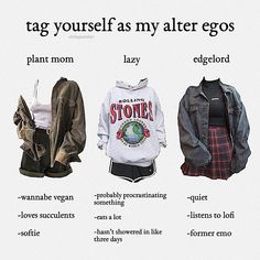 two posts in one day who even am i? currently tho im lazy as heck comment which u r<<edgelord Teen Fashion, Korean Fashion, Fashion Outfits, Grunge Outfits, Grunge Clothes, Aesthetic Fashion, Aesthetic Clothes, Vintage Outfits, Vintage Dress