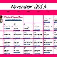 NOVEMBER Workout Calendar | Decembers Fitness Meal and Exercise Plans Exercise Calendar, Fitness Calendar, Exercise Plans, Get Healthy, Fitspiration, Physics, Beast, Workouts, Motivational