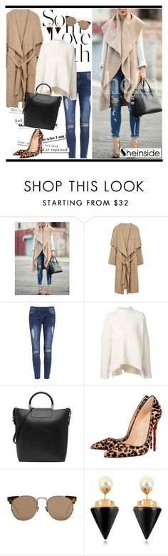 """Sheinside 6 (23)"" by alejla ❤ liked on Polyvore featuring URBAN ZEN, Christian Louboutin, Linda Farrow, Vita Fede and Sheinside"