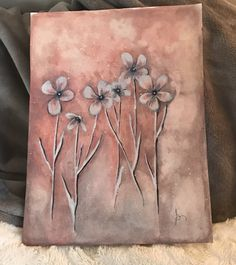 Coral griege and white decor art - original watercolor painting by Susan Ringer. Will go perfectly in my zen room or living room decor - popular colors!