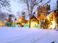 """Stan Hywet Hall, one of Cleveland's architectural treasures, presents an annual """"Deck the Hall"""" event throughout the month of December. 