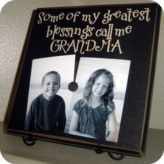 """Magnetic picture board; use """"Nanna"""" & make it longer for + grandchildren. Would like one with mom, dad, Bop, etc."""