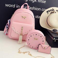 Girly Backpacks, Cute Mini Backpacks, Stylish Backpacks, Small Women's Backpack, Lace Backpack, Purses And Handbags, Leather Handbags, Pink Handbags, Girls Bags