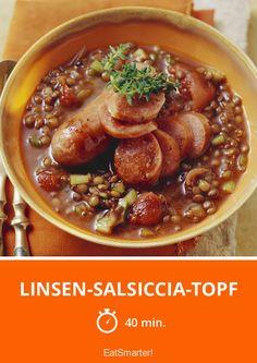 Linsen-Salsiccia-Topf - smarter - Zeit: 40 Min. | eatsmarter.de