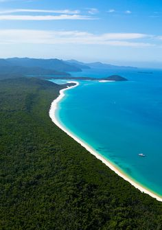 Whitehaven Beach ~ is a pristine, awarding winning beach on Whitsunday Island, Australia, the largest of 74 islands in the Whitsunday. The beach stretches over 7 kilometers & boasts brilliant white silica sand among the purest in the world.