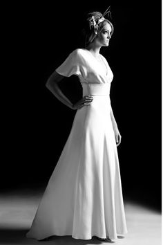 1940s wedding gowns | 1940′s and 1950′s inspired Suzannah Wedding ...