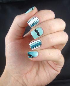 Movember nails ! Mustache nail art