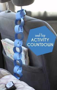 Road Trip Activity Countdown Paper Chain Planning a family road trip?  This simple craft is a life saver! Pure genius. #kids #travel #art