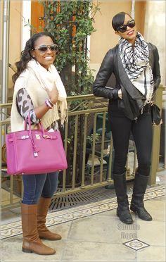 Keshia Knight Pulliam, Letoya Luckett at The Grove in Los Angeles