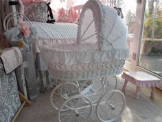 elizabeth doll carriage - great baby gift or base for a gift package! perfect for a baby shower!!