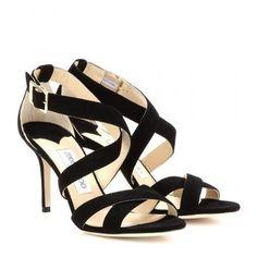 Jimmy Choo - Louise suede sandals #shoes #jimmychoo #designer #covetme