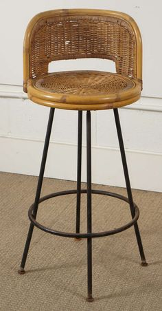 Metal And Wicker Bar Stools Shapeyourminds Com