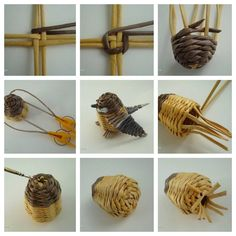 Discover thousands of images about Ptacek: Paper Basket Weaving, Willow Weaving, Weaving Art, Weaving Patterns, Newspaper Basket, Newspaper Crafts, Handmade Crafts, Diy And Crafts, Arts And Crafts