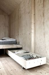 Trundle Bed With Storage E Clever Hidden Storage Solutions Ideas That Inspire - Interior Design Ideas & Home Decorating Inspiration - moercar Trundle Bed With Storage, Under Bed Storage, Platform Bed With Storage, Cabin Design, Home Design, Interior Design, Design Ideas, Design Hotel, Interior Ideas