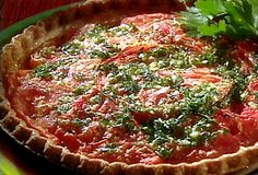 Tomato Pie. Make GF pie crust from scratch and use 1/2 the cheese. Great use for extra tomatoes from produce box