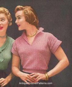 Crocheted Blouse - Free Crochet Top Pattern