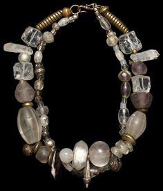 by Marion Hamilton | Necklace; large rock crystal beads are ...