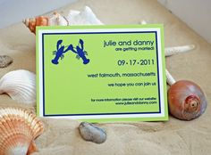Lobsters in love save the date. $1.25, via Etsy.
