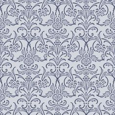 Christobel Damask ~ Blue  fabric by peacoquettedesigns on Spoonflower - custom fabric