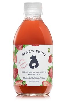 Amy Driscoll, a co-founder of Bear's Fruit, spills the most beneficial components of drinking kombucha Organic Raw Kombucha, Kombucha Bottles, Kombucha Benefits, Organic Blueberries, Champagne Bottles, What Happened To You, Bottle Design, Home Brewing, Fun Drinks