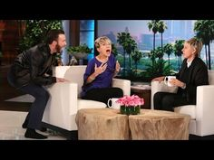 Chris Evans Scares Scarlett Johansson Silly on 'Ellen'