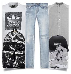 """Men street style"" by madeinmalaysia ❤ liked on Polyvore featuring adidas, Topman, Givenchy, Under Armour, Off-White, Yves Saint Laurent, men's fashion and menswear"