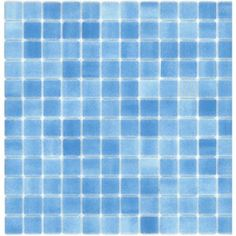 Elida Ceramica�12-1/2-in x 12-1/2-in Recycled Glass Mosaic Ice Water Glass Wall Tile