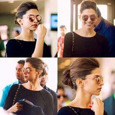 And a puff bun. So easy. Beautiful Bollywood Actress, Beautiful Actresses, Bollywood Stars, Bollywood Fashion, Deepika Padukone Hair, Kareena Kapoor, Deeps, Hairstyles For Gowns, Dipika Padukone