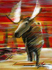 Joan Baron Artwork in Canada House Gallery Canada House, Artwork Display, Giraffe, Moose Art, Baron, Gallery, Artist, Classroom, Animals