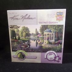 "Kim Norlien ""Secret Garden""  1000 Piece 39 x 19.5 Swan Lake Garden Art  #MasterPiecesKimNorlien"