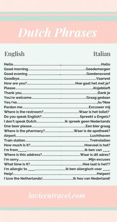 Basic Dutch Phrases to Use in The Netherlands - Plan your Holland vacation with these Dutch sentence examples and most used Dutch words! Lloyd Hotel Amsterdam, Victoria Hotel Amsterdam, Dutch Phrases, Dutch Words, Dutch Netherlands, Travel Netherlands, Amsterdam Netherlands, Sentence Examples, Learn Dutch