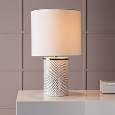 """$79  Dimensions: 10""""diam. x 24""""h. Etched Glass Table Lamp 