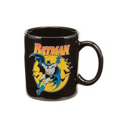 Vandor 76065 Batman Ceramic Mug, Black, 12-Ounce