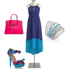 Shades of Blue by jessica-shoelover on Polyvore #styleitfab