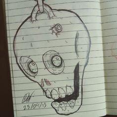 Dibujo de craneo