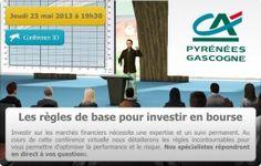 Conférence 3D : Les règles de base pour investir en bourse