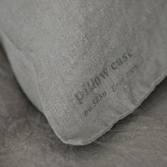 Sweet dreams! You'll receive a pair of standard sized linen cases each with an interior pocket to keep your pillow from poking out. *stamped text will gradually fade with each wash W 70cm x L 50cm / 2
